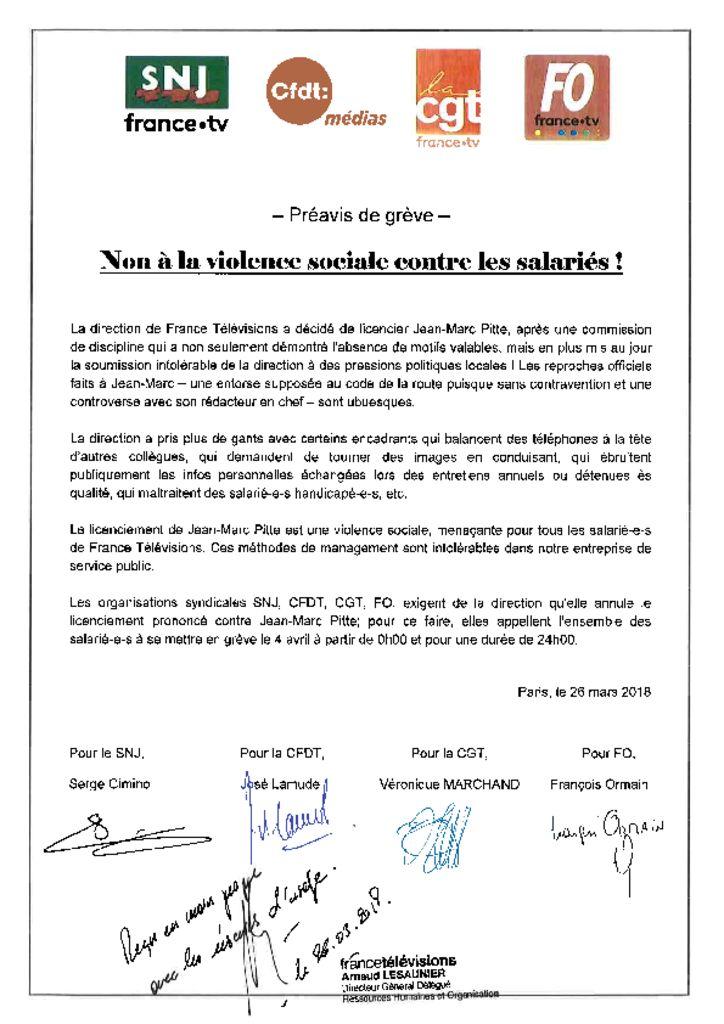 thumbnail of Préavis de grève SNJ-CFDT-CGT-FO pour le 04 Avril 2018